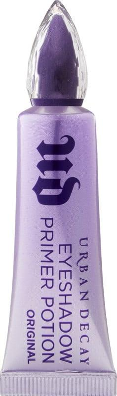 """<p>Ultra-pigmented eye looks call for an eye shadow primer to hold the color in place. """"Dab a touch of the <a href=""""https://www.popsugar.com/buy/Urban-Decay-Cosmetics-Original-Eyeshadow-Primer-Potion-423449?p_name=Urban%20Decay%20Cosmetics%20Original%20Eyeshadow%20Primer%20Potion&retailer=ulta.com&pid=423449&price=24&evar1=bella%3Aus&evar9=47332424&evar98=https%3A%2F%2Fwww.popsugar.com%2Fphoto-gallery%2F47332424%2Fimage%2F47332425%2FStep-1-Prep-Eyes&list1=eye%20makeup%2Cneon%2Cbeauty%20trends&prop13=api&pdata=1"""" rel=""""nofollow"""" data-shoppable-link=""""1"""" target=""""_blank"""" class=""""ga-track"""" data-ga-category=""""Related"""" data-ga-label=""""https://www.ulta.com/original-eyeshadow-primer-potion?productId=xlsImpprod3330137"""" data-ga-action=""""In-Line Links"""">Urban Decay Cosmetics Original Eyeshadow Primer Potion</a> ($24) over your lids, to prep for 24-hour wear and crease-free eyeshadow,"""" Adam said. """"The polymer technology fills in any imperfections on the skin's surface, so it's a must before any eye shadow application.""""</p>"""