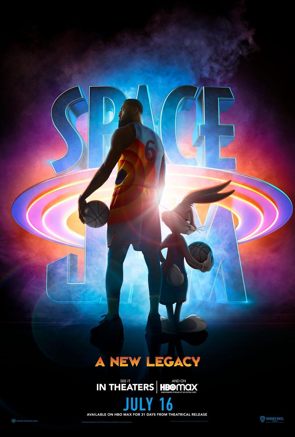 LeBron James and Bugs Bunny in Space Jam: A New Legacy poster art