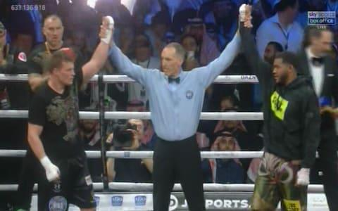 Hunter and Povetkin a draw - Credit: Sky Sports