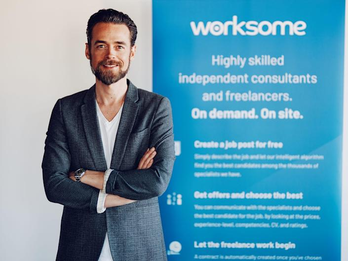 Headshot of Worksome cofounder and CEO Morten Petersen