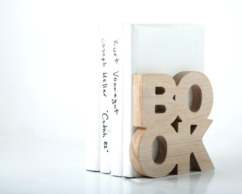 <p>If there was ever any doubt in anyone's mind what these <span>Stylish Bookends</span> ($35) were for, they pretty much spell it out for you.</p>