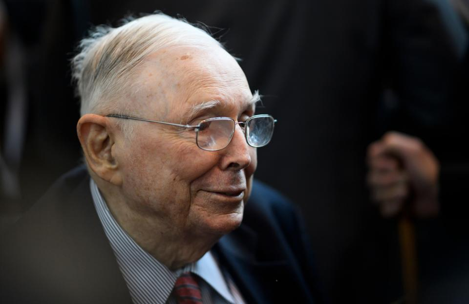 Vice Chairman of Berkshire Hathaway, Charlie Munger attends the annual Berkshire shareholders meeting in Omaha, Nebraska, May 3, 2019. (Photo by Johannes EISELE / AFP)