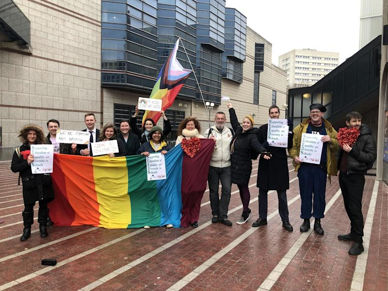 LGBT+ group have tried to build bridges with protesting parents who helped shut down same-sex relationship classes