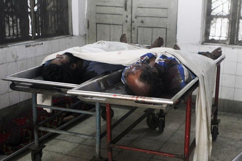 The bodies of suspected members of the Jamayetul Mujahideen Bangladesh lie in a Dhaka morgue in June following a nationwide crackdown on extremists (AFP Photo/)