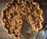 """<p>The key to having a flavorful and textured pie are the type of apples you use. This recipe recommends baking with firmer sweet apples like Macintosh and Pink Lady apples. <b><a href=""""https://www.yahoo.com/food/maple-apple-crumb-pie-from-maple-165936270.html"""" data-ylk=""""slk:Get the Maple Apple Crumb Pie from 'Maple' recipe;outcm:mb_qualified_link;_E:mb_qualified_link;ct:story;"""" class=""""link rapid-noclick-resp yahoo-link"""">Get the Maple Apple Crumb Pie from 'Maple' recipe</a>. </b>(<i>Photo: Katie Webster)</i></p>"""
