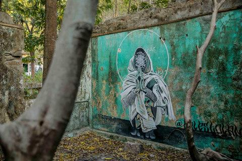 The crumbling ashram is being lost to the jungle - Credit: GETTY