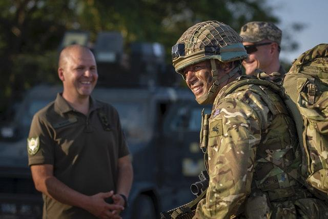 More than 200 British paratroopers jumped into Ukraine for the joint exercise
