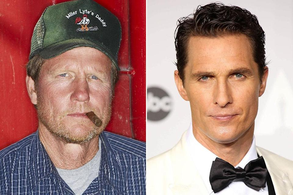 """Rooster McConaughey – brother of Matthew McConaughey: Rooster starred in oily reality show 'Black Gold', and famously named his son """"Miller Lyte""""… after the beer (Credit: Wenn/Rex)"""