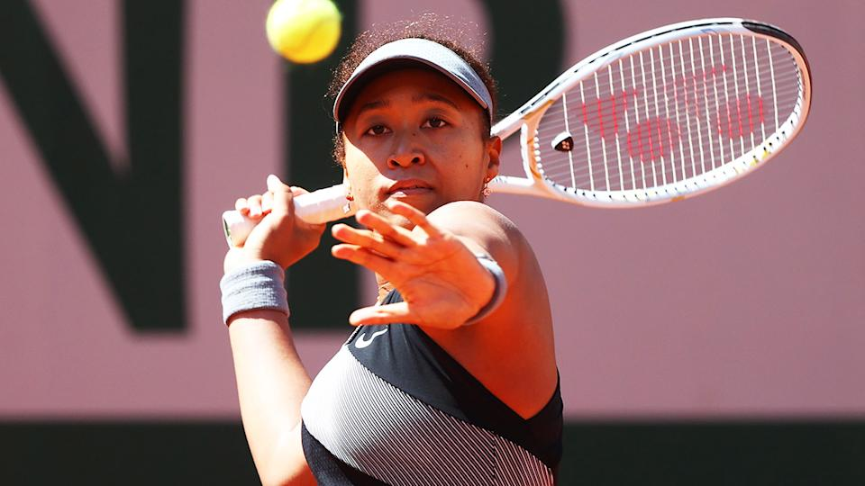 Naomi Osaka, pictured here in action at the French Open before her withdrawal.
