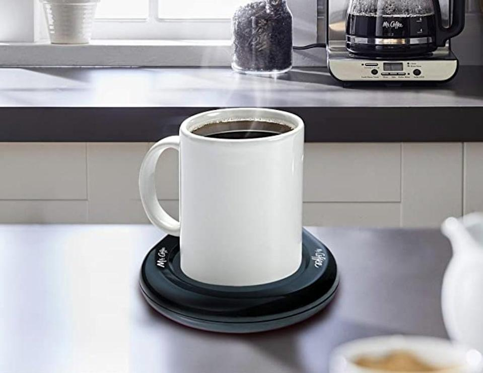 <p>Make sure he never drinks cold coffee again with this <span>Mr. Coffee Mug Warmer</span> ($11).</p>