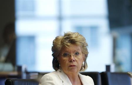 E.U. Justice Commissioner Reding addresses European Parliament's Committee on civil liberties, justice and home affairs in Brussels