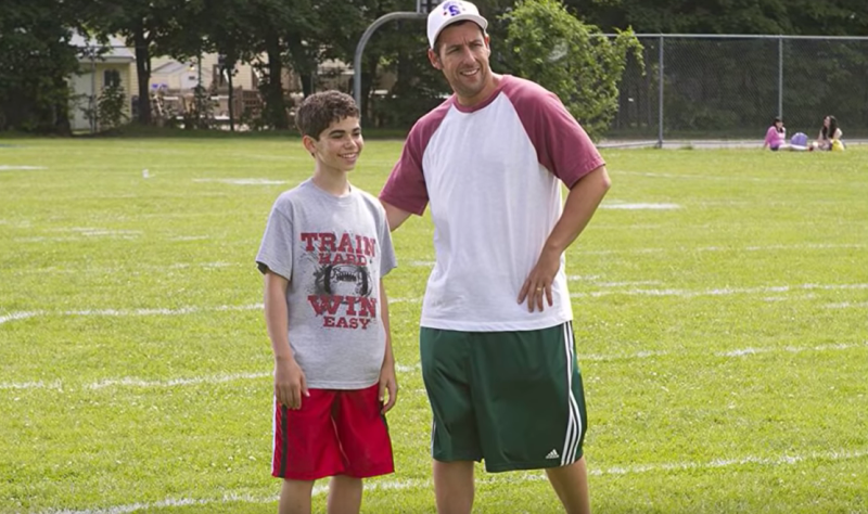 Cameron Boyce and Adam Sandler are pictured during a scene from the film Grown Ups 2. Boyce's family confirmed his death over the weekend and Sandler has paid tribute to the 20-year-old.