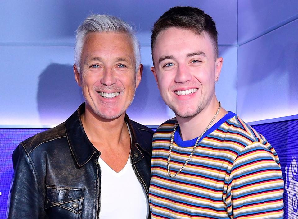 EMBARGOED TO 0900 WEDNESDAY MARCH 24 File photo dated 05/10/18 of Martin Kemp (left) with his son Roman. Martin Kemp has said he did not