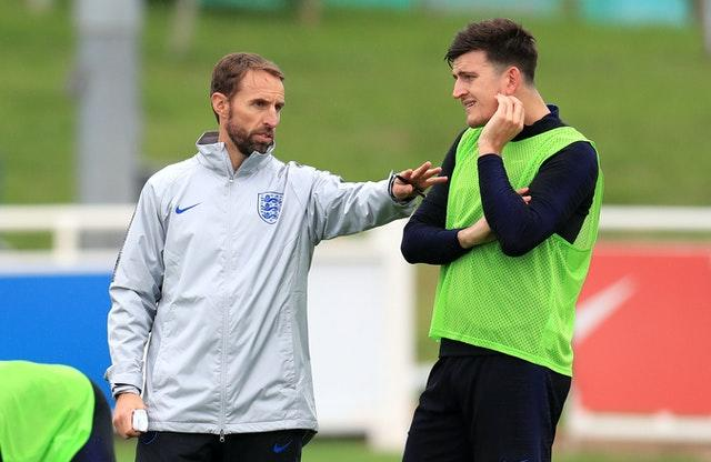 Gareth Southgate, left, has dropped Harry Maguire for the next two games