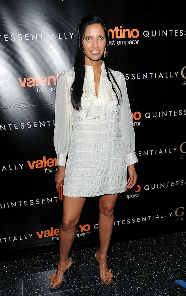 "We hope the seats in MOMA's theater weren't cold. Padma Lakhsmi's shirtdress barely covered her bottom half! Dimitrios Kambouris/<a href=""http://www.wireimage.com"" target=""new"">WireImage.com</a> - March 17, 2009"