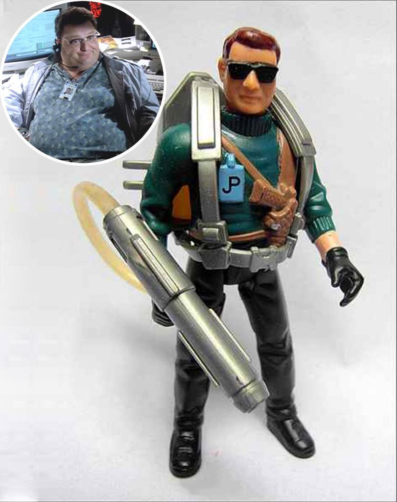<p>This gun-toting bruiser is supposed to be portly Wayne Knight's techno-nerd in 'Jurassic Park.' (Photo: Kenner/Everett)</p>