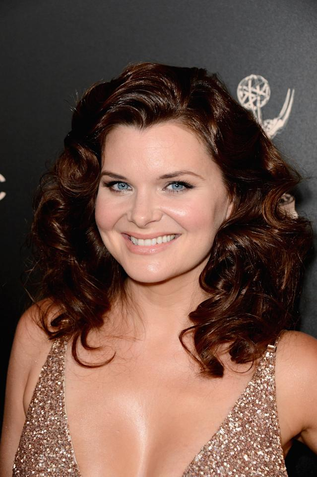 BEVERLY HILLS, CA - JUNE 16: Actress Heather Tom attends The 40th Annual Daytime Emmy Awards at The Beverly Hilton Hotel on June 16, 2013 in Beverly Hills, California. (Photo by Mark Davis/Getty Images)