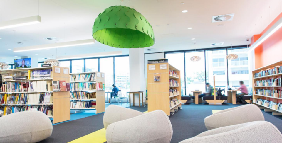"""The notes were found at Chermside Library in Brisbane and people were loving the random acts of crochet kindness. Source"""" Brisbane City Council"""