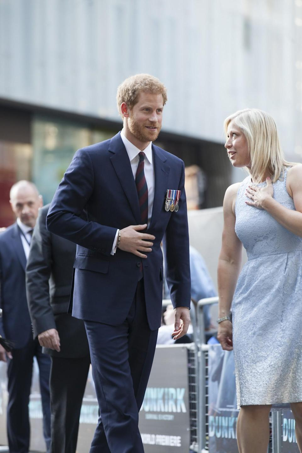 <p>Prince Harry at the 'Dunkirk' premiere (WB) </p>