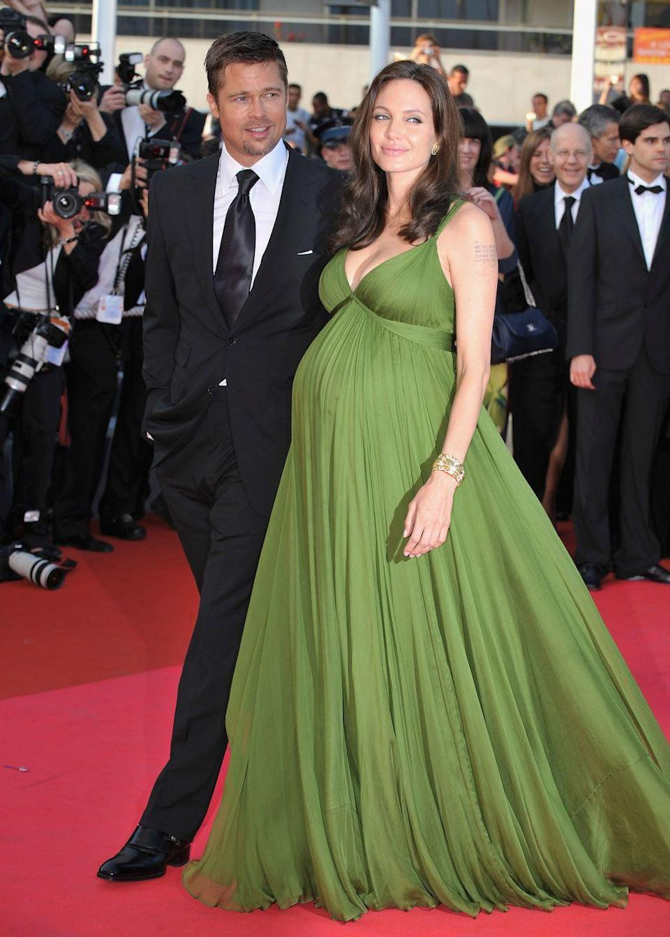 <p>At the 61st International Cannes Film Festival, the couple announced that they were expecting twins. Knox Leon and Vivienne Marcheline were born in July. The couple also share three adopted children, meaning the twins rounded out the family to eight people in total.</p>