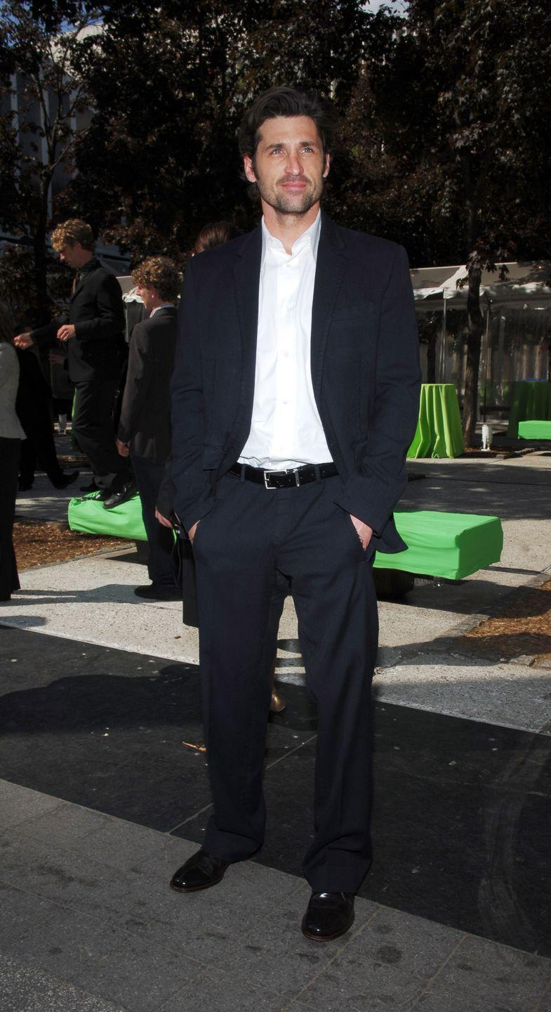 <p>This is how you do classic outfit without being boring. If a perfectly-fitted navy suit and white dress shirt is good enough for Dempsey, it is good enough for us, too.</p>