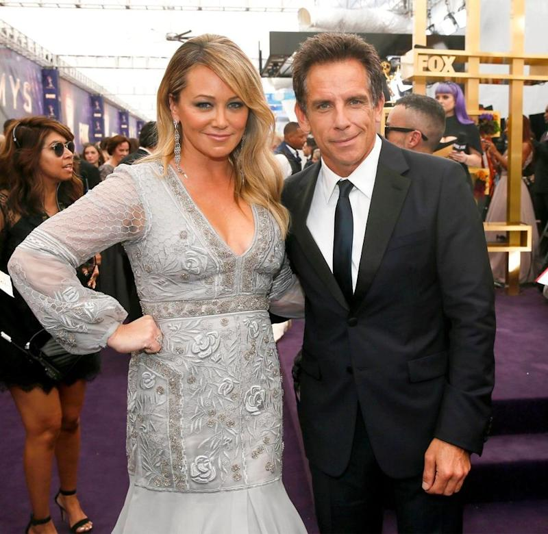 Christine Taylor and Ben Stiller at the Emmy Awards | Danny Moloshok/Invision/AP/Shutterstock