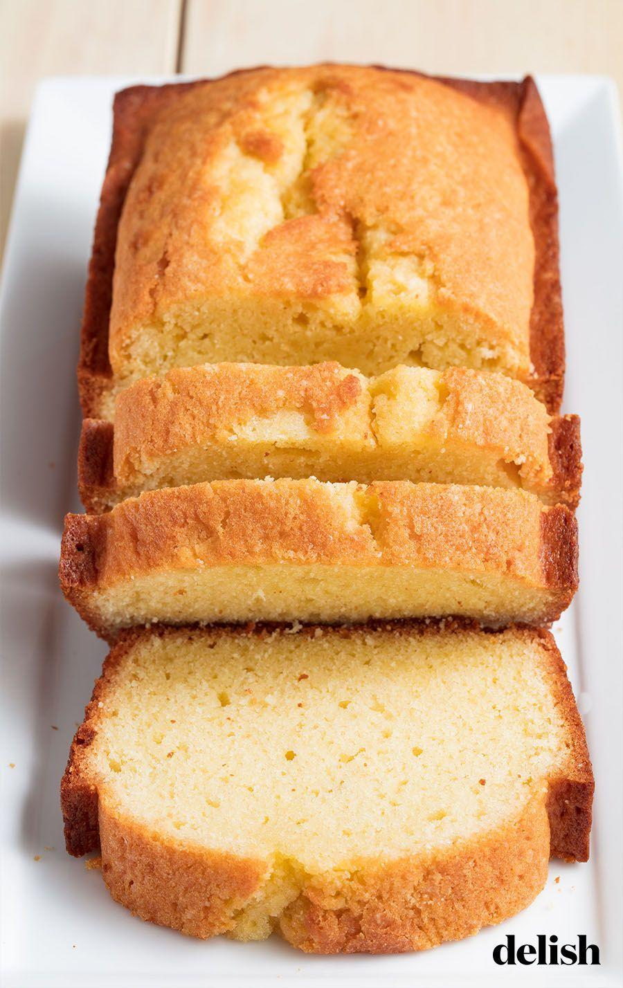 """<p>This easy pound cake is easy to dress up with fruit, chocolate sauce, or coconut.</p><p>Get the recipe from <a href=""""https://www.delish.com/cooking/recipe-ideas/a20086982/easy-pound-cake-recipe/"""" rel=""""nofollow noopener"""" target=""""_blank"""" data-ylk=""""slk:Delish"""" class=""""link rapid-noclick-resp"""">Delish</a>. </p>"""