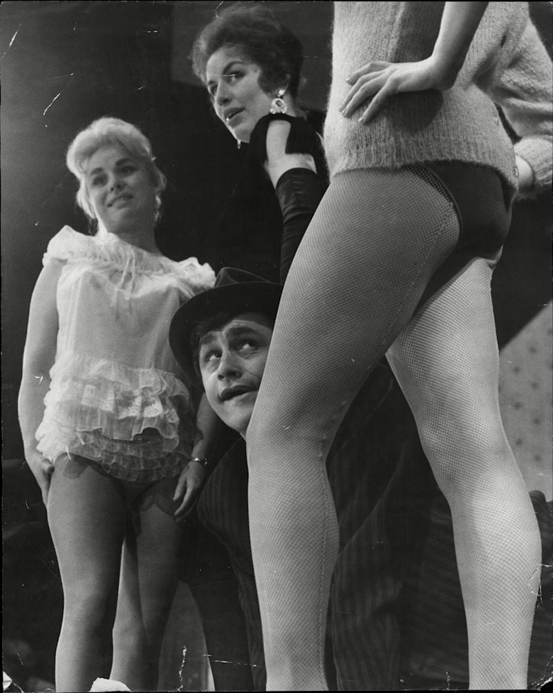 In a production of 'Fings Ain't What They Used To Be' at Garrick Theatre, London in 1960.