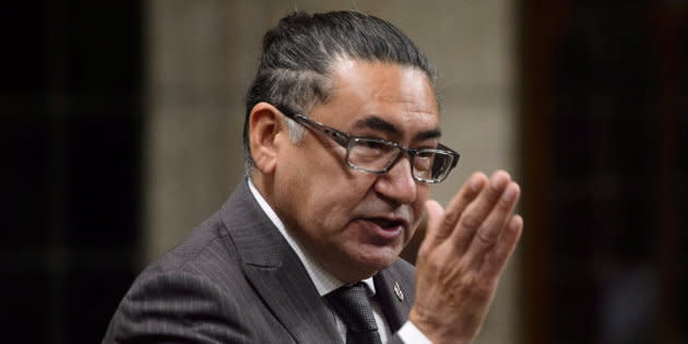 NDP MP Romeo Saganash stands during question period in the House of Commons on Sept. 25, 2018.