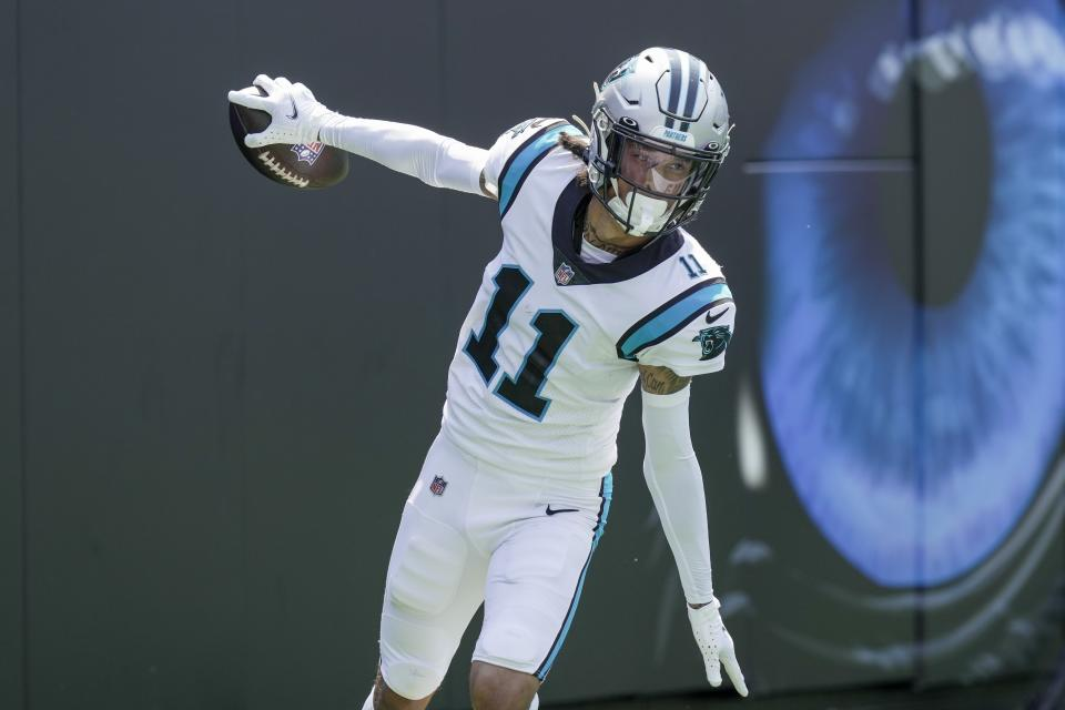 Carolina Panthers wide receiver Robby Anderson has an average depth of target of 21 yards. (Jim Dedmon/USA TODAY Sports)