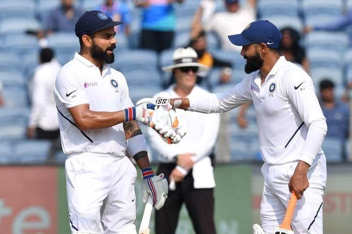 Kohli and Jadeja added 225 runs in quick time in Pune