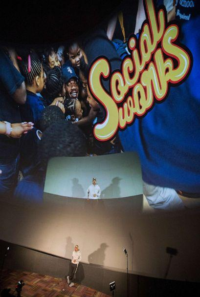 "PHOTO: In this Dec. 19, 2019, file photo, Chance the Rapper is shown during the SocialWorks 3rd Annual 'A Night At The Museum"" event that benefits the homeless in Chicago, at the Museum of Science and Industry in Chicago. (Barry Brecheisen/Getty Images, FILE)"