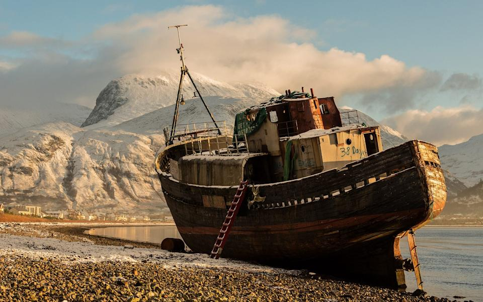 Ron Tear was shortlisted for this shot of a wreck on the shore of Loch Linnhe, Scotland - Ron Tear