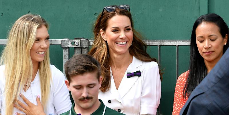 Kate Middleton Surprises Fans By Mingling Outside Royal Box At Wimbledon