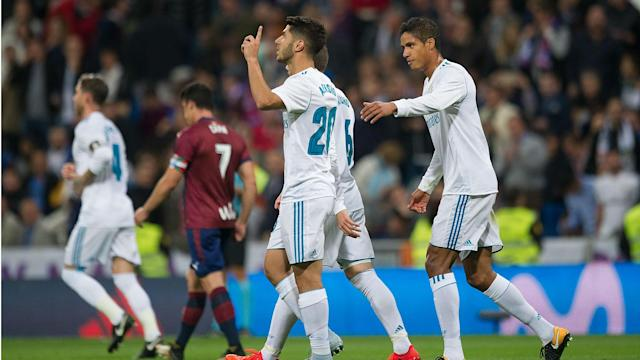 Marco Asensio was in fine form for Real Madrid as they overcame Eibar 3-0 in LaLiga, as Cristiano Ronaldo's woes in front of goal returned.