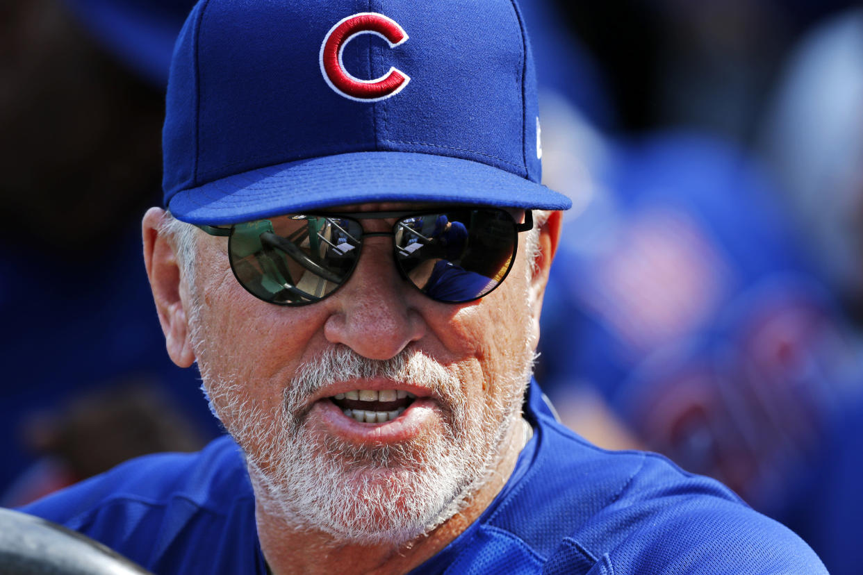 Chicago Cubs manager Joe Maddon was among those weighing in on President Trump's controversial comments regarding the NFL and NBA. (AP)