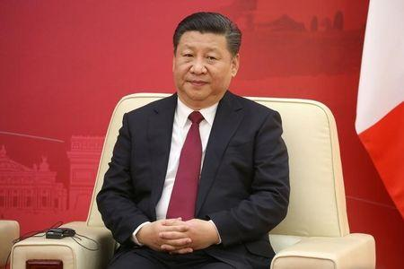 FILE PHOTO - Chinese President Xi Jinping attends the first meeting of the French-Chinese business council in Beijing