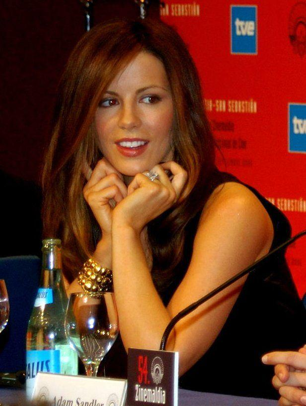 Kate Beckinsale at a press event