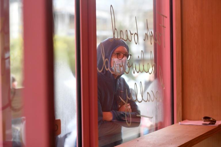 """The distinctive pink-painted bakery -- """"Sourdough Sophia"""" -- opened in January"""