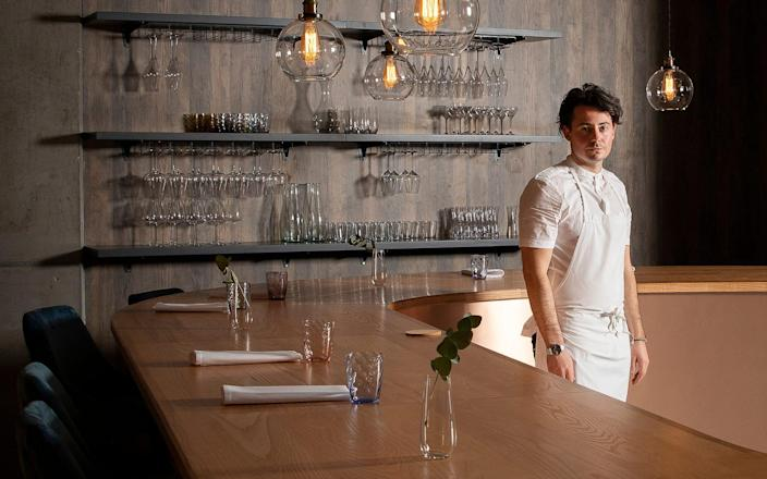 Chef Andy Beynon at Behind restaurant - John Carey