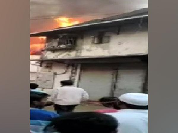 A visual from the fire incident in Mumbai on Friday.