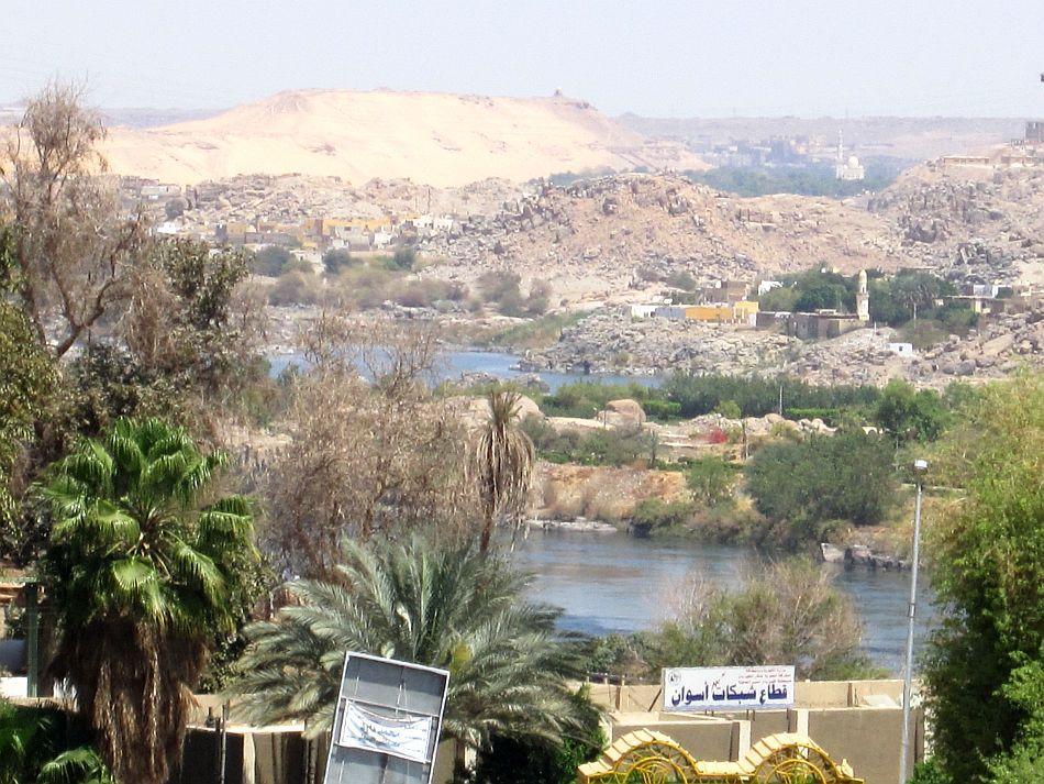 A Nubian village by the River Nile