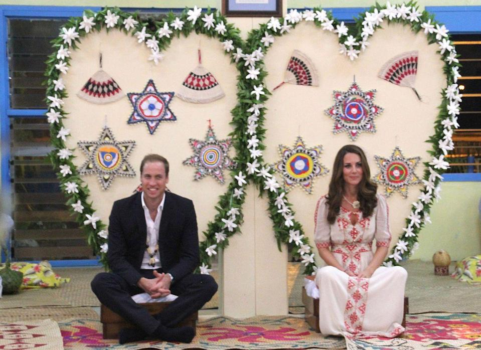 """<p>In a rather embarrassing but accidental incident, the Duke and Duchess of Cambridge <a href=""""https://www.huffingtonpost.com/2012/09/26/kate-middleton-dress-scandal-solomon-islands_n_1915592.html"""" rel=""""nofollow noopener"""" target=""""_blank"""" data-ylk=""""slk:wore the wrong traditional outfits"""" class=""""link rapid-noclick-resp"""">wore the wrong traditional outfits</a> to their dinner on the Solomon Islands during their 2012 Asia trip. They were wearing clothing pieces from the Cook Islands by mistake.</p><p>Clarence House released this statement: """"We saw they weren't the same design of the traditional clothes we were told would be gifted. So we checked with the Solomon Islands government to ensure the right ones were worn. We were reassured the clothes were correct, and so the Duke and Duchess wore them to the event. It was not learned until later in the evening that the clothes weren't from the islands. But it was understood that the Duke and Duchess intended to wear traditional Solomon Island clothes and this was appreciated. No offense was caused.""""</p>"""