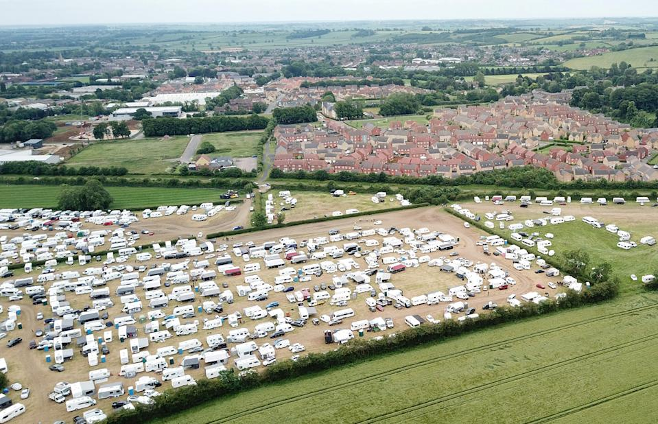 An aerial view of the Rutland Showground. (SWNS)