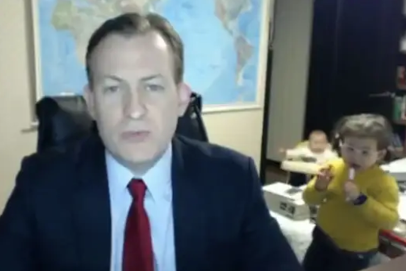 The children first came to the world's attention when they joined in a live interview on the BBC in 2017 (BBC)