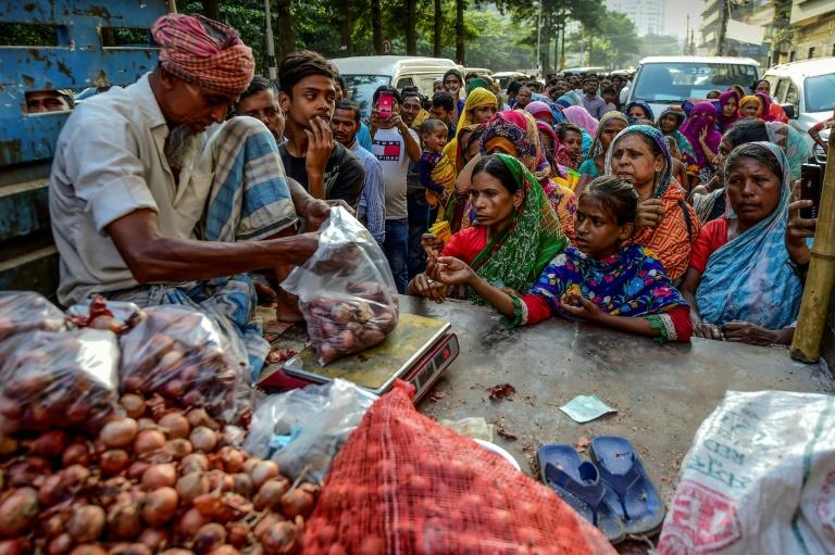 The price of onions has climbed to eye-watering levels in Bangladesh since neighbouring India banned exports in late September
