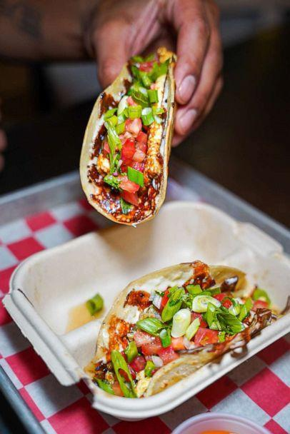 PHOTO: A portion of the proceeds from each TT Taco sold at Flip Sigi during May will support AAPI organizations. (Flip Sigi)