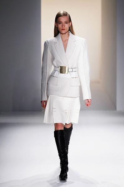 <b>Calvin Klein AW13 runway </b><br><br>Monochrome was a key trend on the catwalk.<br><br>Image © Getty