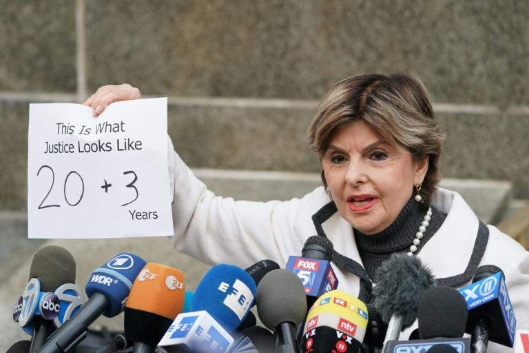 Attorney Gloria Allred speaks outside the courthouse following the sentencing of movie producer Harvey Weinstein at Manhattan Criminal Court on March 11, 2020 in New York