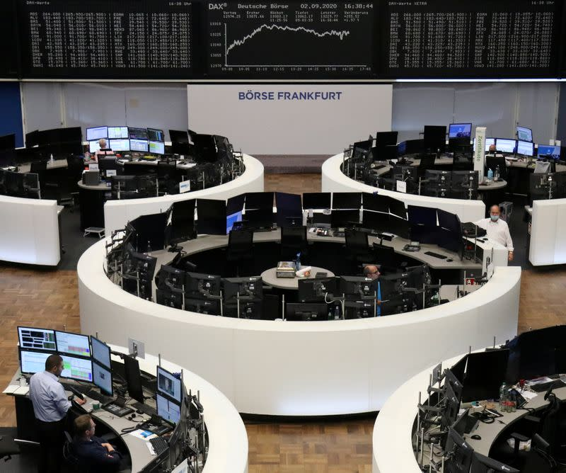 European shares snap four-day losing streak on tech, chemical sector gains